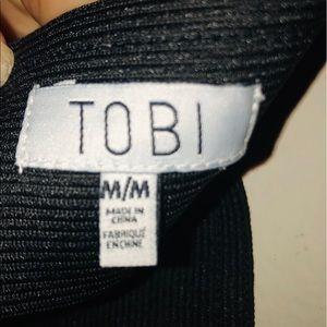 Tobi Skirts - Black bodycon skirt from Tobi